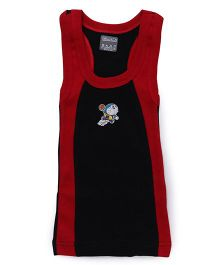 Doraemon Print Sleeveless Vest - Blue Red