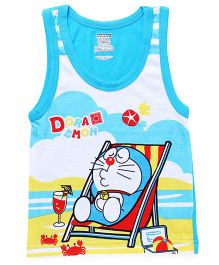 Doraemon Sleeveless Vest - Sky Blue