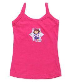 Dora Singlets Slips With Print - Dark Pink