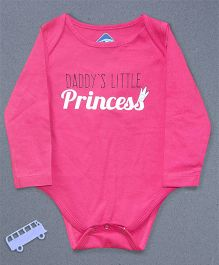 Blue Bus Store Daddys Little Princess Printed Onesie - Pink