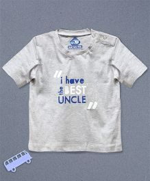 Blue Bus Store Best Uncle Printed T-shirt - Grey