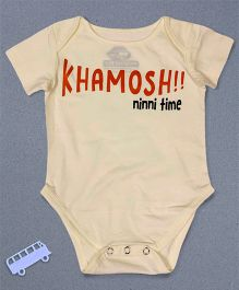 Blue Bus Store Khamosh Ninni Time Printed Onesie - Cream