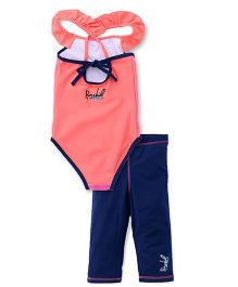 Pinehill 2 Pieces Legged Swimsuit - Pink