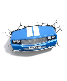 3D Light Sports Car 3D Deco Light - Blue