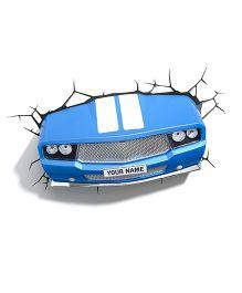 3D Light Sports Car 3D Deco Light - Blue