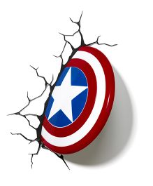 3D Lights Captain America Shield Led Bulb - Blue And Red