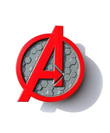 3D Light Avengers Logo Deco Light - Red