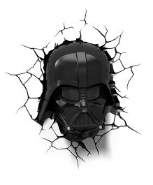 3D Light Star Wars Darth Vader Helmet Led Bulb - Black