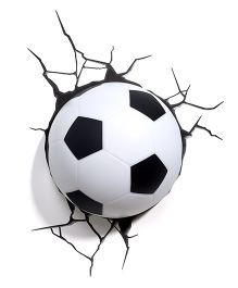 3D Light Soccer Ball 3D Deco Light - White And Black