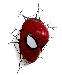 3DLIGHT FX Spider Man Mask 3D Deco Light - Red