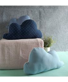 BOBTAIL by Misha's Creation Clouds Design Cushion Set of 3 - Blue