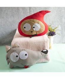 BOBTAIL by Misha's Creation Little Red Riding Hood Cushion - Red Brownm
