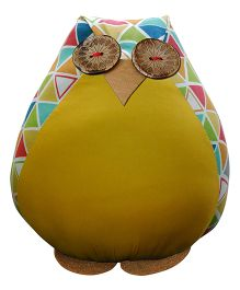 BOBTAIL by Misha's Creation Owl Cushion - Yellow