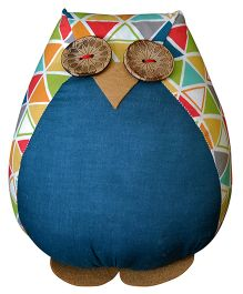 BOBTAIL by Misha's Creation Owl Cushion - Blue
