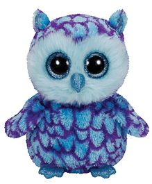 Jungly World Oscar Owl Soft Toy Blue - 6 Inches