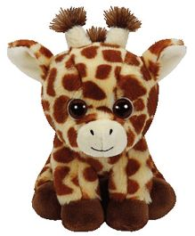 Jungly World Peaches Giraffe Soft Toy Brown - 6 Inches