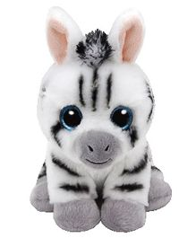 Jungly World Stripes Zebra Soft Toy White - 6 Inches
