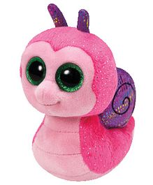 Jungly World Scooter Snail Soft Toy Pink - 6 Inches