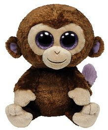 Jungly World Coconut Monkey Soft Toy Brown - 6 Inches