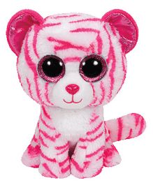 Jungly World Asia Tiger Soft Toy White Pink - 6 Inches