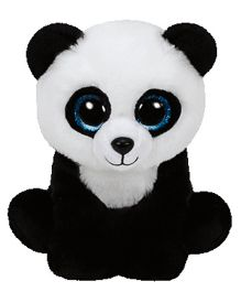 Jungly World Ming Panda Bear Soft Toy White Black - 6 Inches