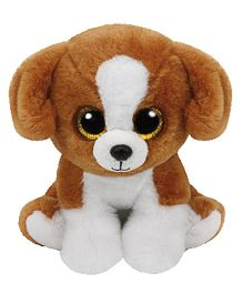 Jungly World Snicky Dog Soft Toy White Brown - 6 Inches
