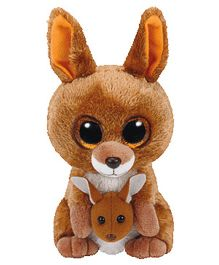 Jungly World Kangaroo Soft Toy Brown - 16 cm