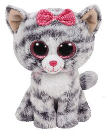 Jungly World Cat Soft Toy Grey White - 16 cm