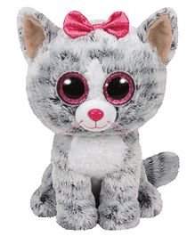 Jungly World Cat Soft Toy Grey White - 22 cm