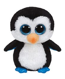 Jungly World Penguin Soft Toy White Black - 16 cm