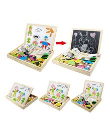 Emob Easy to Learn With Double Sided Black Plus Magnetic Board Game - 95 Pieces