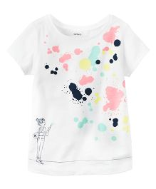 Carter's Paint Splatter Graphic Tee - White