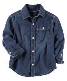 Carter's Denim Button-Front Shirt - Blue
