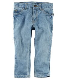 Carter's 5-Pocket Slim-Fit Carpenter Jeans - Light Blue