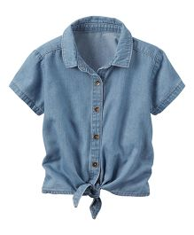 Carter's Chambray Tie-Front Shirt - Blue