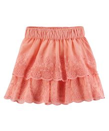 Carter's Lace Tiered Skirt - Peach