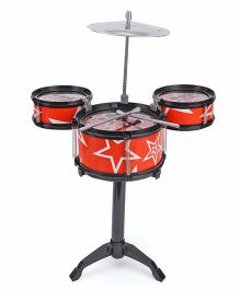 Playmate Drum Set Flash Music Jazz - Red Black