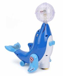 Playmate Super Meng Dophin With Projection And Light - Blue