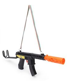 Anmol Toys Leo Gun With Rapid Fire Sound - Black And Orange