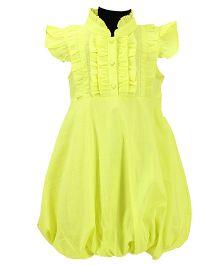 Pixi Adorable Bubble Dress - Neon Green