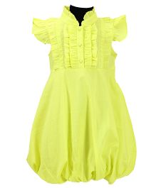 Pixi Adorable Bubble Dress - Neon Green