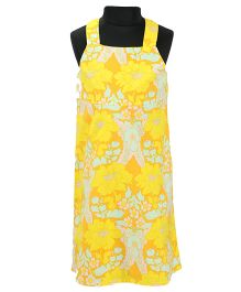 Pixi Cool Summer Shift Dress - Ocher Yellow