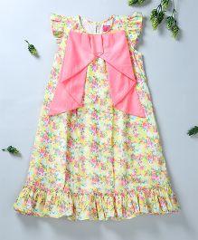 Pixi Fancy A Line Dress - Yellow & Pink