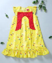 Pixi Fancy A Line Dress - Yellow