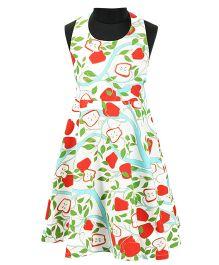 Pixi Trendy Casual Halter Neck Dress - White