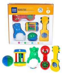 Mee Mee Cute Companion Rattle Set - Pack Of 5	(Color May Vary)