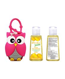 Zuci Junior Mango Hand Sanitizer With Owl Bag Tag - 30ml