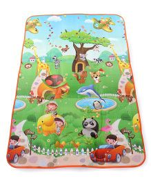 Alphabet And Animal Print Baby Play Mat - Multi Color