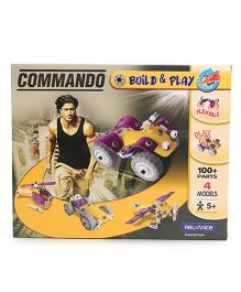 Commando Build N Play Vehicle Yellow And Purple - 100 Plus Pieces