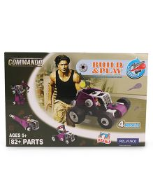 Commando Build N Play Cars Purple - 82 Plus Pieces